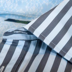 Ted Baker Archive Grey Stripe French Cuff Shirt